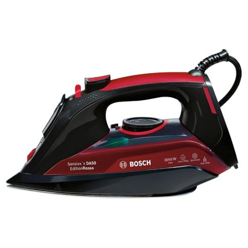 Bosch TDA5070GB Palladium Plate Steam Iron - Black & Red