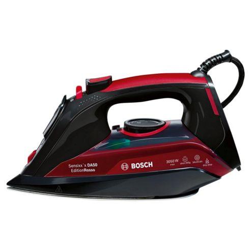 Bosch TDA5070GB Palladium Plate Steam Iron - Black & Red