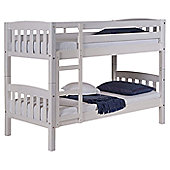 America Bunk Bed Frame in Whitewash - Single