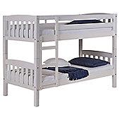 America Bunk Bed Frame in Whitewash - Single