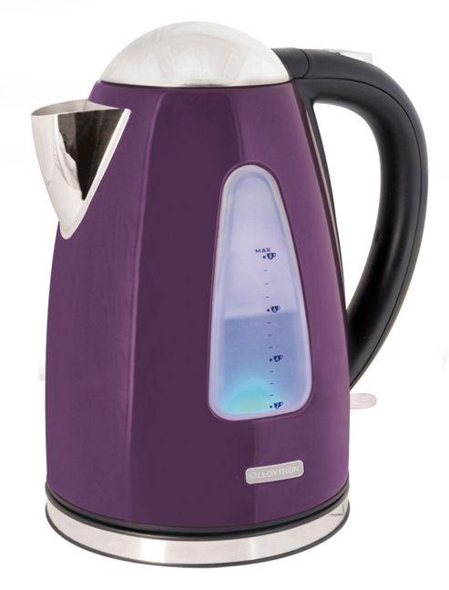 Lloytron E1506PL 1.7 litre 3kw 360 Rapid Boil Cordless Kettle - Plum