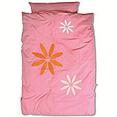 Baby Boum Melow Flower Duvet Cover & Pillowcase Set (Gum)
