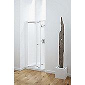 Coram Showers Optima Bi Fold Door - Chrome - Plain - 100cm