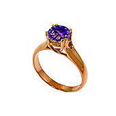 QP Jewellers 1.10ct Amethyst Solitaire Ring in 14K Rose Gold