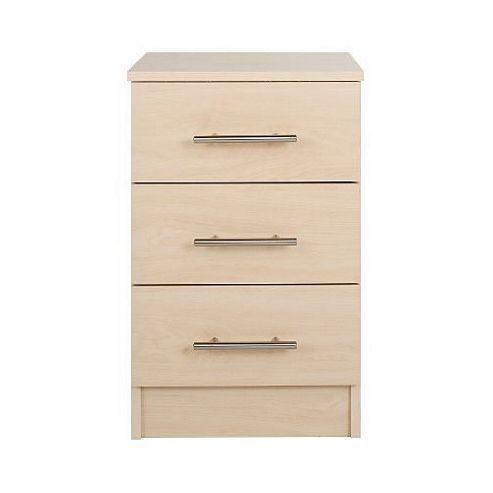 Kit Form Gloss Kit-form 3 Drawer Bedside Table - Birch