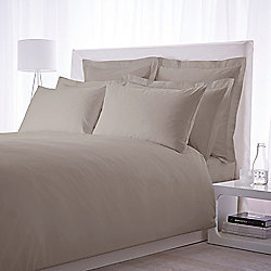 Luxury Hotel Collection 500 TC King Size Fitted Sheet Pair Taupe