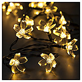 Dobbies 40 Cherry Blossom Lights Warm White String