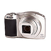 DS Nikon Coolpix L610 Camera Silver 16MP 14xZoom 3.0LCD FHD 25mm Wide Lens