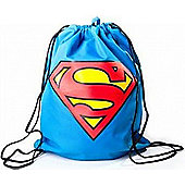 Dc Comics Superman Gym Bag With Classic Logo, Blue (ci05c2spm) - Accessories