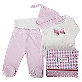 Minene 3 Piece Gift Box Pink  White