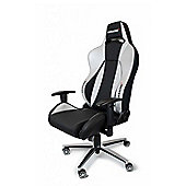 AK Racing Premium Gaming Chair Black & Silver Perfect for office workers and gamers PU Leather AK-7002-BS