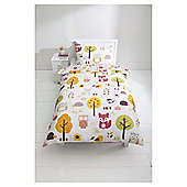 Kids 100% Cotton Woodland Print Duvet Set Single