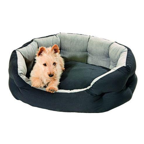 Karlie Quantum Guard Dog Bed - Black / Grey - 46cm W x 60cm L