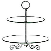 Baroque - Two Tier Glass Party Cake Stand