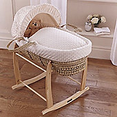 Clair de Lune Dimple Palm Moses Basket (Cream)