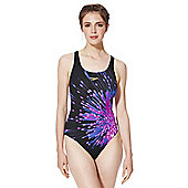 Speedo Endurance+® Racerback Swimsuit - Black