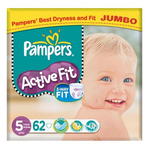 Pampers Active Fit Jumbo Junior 62