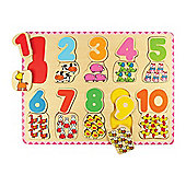 Bigjigs Toys Number and Colour Matching Puzzle