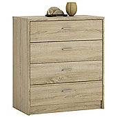 Value by Wayfair Clarkia 4 Drawer Chest - Sonama Oak