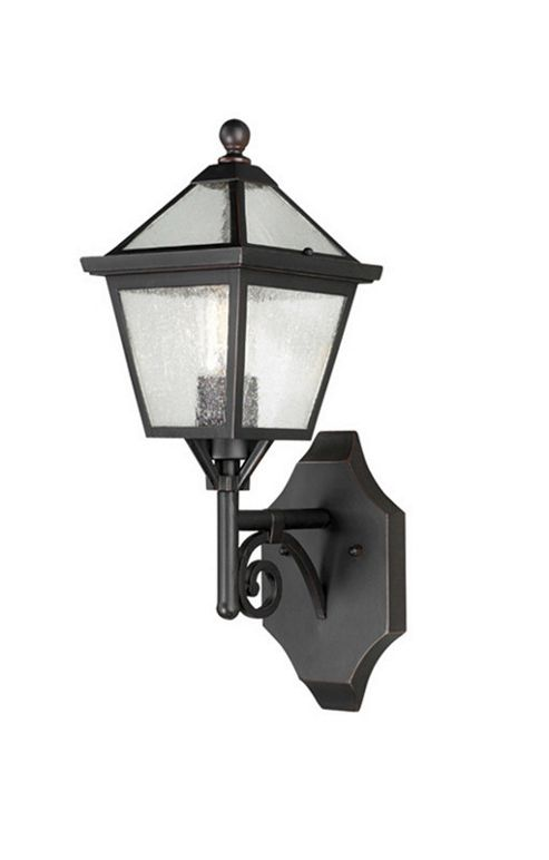 Elstead Lighting Louisiana 1 Light Outdoor Wall Lantern in Old bronze