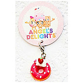 Children's Strawberry Doughnut Clip on Charm