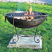 Homestead Living Phoenix Firebowl with BBQ Rack - 70 cm W x 70 cm D