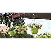Algarve Hanging Basket 31cm Green - set of 3