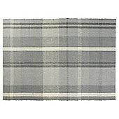 Tartan Flat Weave Rug 80x150 grey