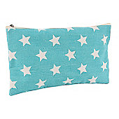 Turquoise Star Make Up Bag