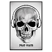 Gloss Black Framed Dead Beats Poster