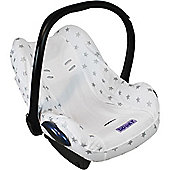 Dooky Infant Car Seat Cover 0+ Silver Stars