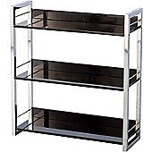 Boston Three Shelf Bookcase/Display Unit in Black - Black
