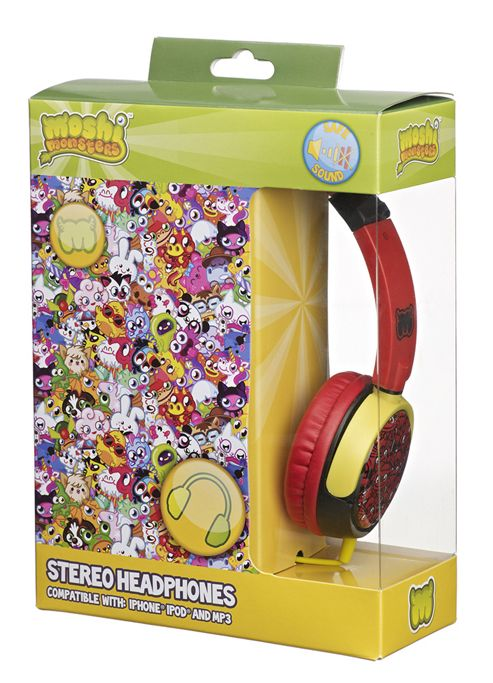 Moshi Monsters On-Ear Headphones for iPod/MP3 Players/Tablets -Red