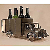Trucking - Truck Shaped Recycled Metal 6 Wine Bottle Holder