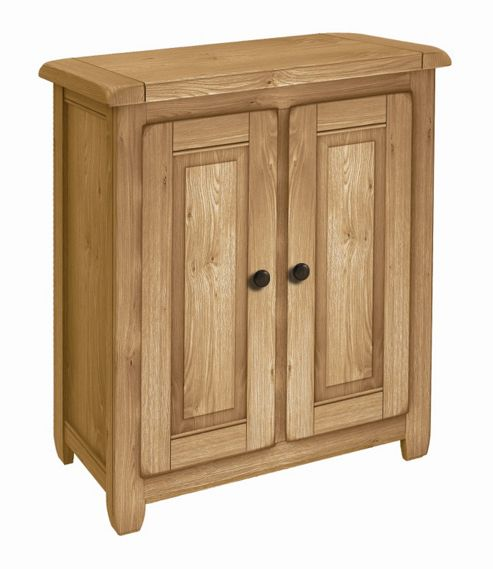 Kelburn Furniture Cherry Creek Oak 2 Door Storage Cupboard