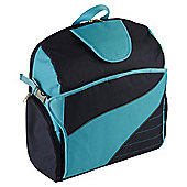 SitNSee - Stadium Booster Seat/Back Pack - Navy Blue/Turquoise Blue