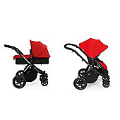 ickle bubba Stomp V2 2 in1 Pram - Red (Black Chassis)