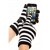 Trendz Glove Black and White Stripe