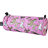 Children's Pencil Case- Pink Horses