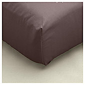 Tesco Fitted sheet Chocolate, Single