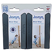 Jamm Door Stop, Twin Pack, Grey