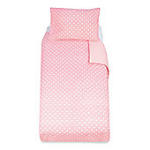 Mothercare Essential Cot Bed Pillowcase and Duvet Set - Pink
