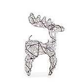 Frosty Finish Standing Wicker Reindeer Ornament