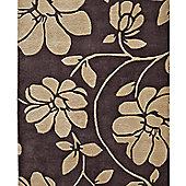 Think Rugs Fusion Brown/Beige Tufted Rug - 120 cm x 170 cm (3 ft 9 in x 5 ft 7 in)