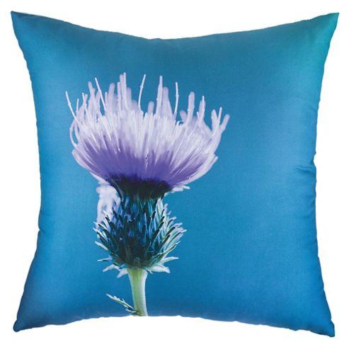 F&F Home Thistle Digital Print Cushion, Blue