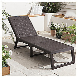 Dream Resin Folding Garden Sun Lounger, Wengue