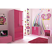 GFW Ottawa 2 Tones Bedroom Collection - Pink High Gloss