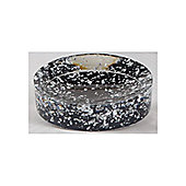 Sanwood Glitter Soap Dish in Black and Silver