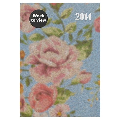 Rose Casebound 2014 Diary A5 Week To View