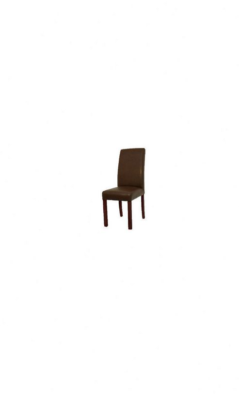 Originals Harlequin Chair Faux Leather Chair with Dark Brown Legs in Tan (Set of 2)